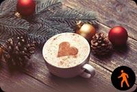 Ảnh Động Cà Phê Tình Yêu Mùa Giáng Sinh Mẫu Nền Thư