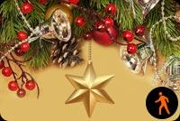 Ảnh Động Giáng Sinh Sao Vàng Mẫu Nền Thư