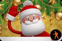 Ảnh Động Santa Vẫy Tay Mẫu Nền Thư