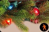 Ảnh Động Đèn Giáng Sinh Mẫu Nền Thư