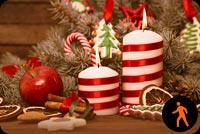 Ảnh Động Đèn Cầy Giáng Sinh, Socola Mẫu Nền Thư