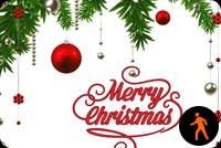 Ảnh Động Merry Christmas Quả Châu Mẫu Nền Thư