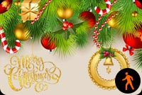 Ảnh Động Khung Hình Email Giáng Sinh Mẫu Nền Thư