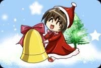 Bé Gái Và Chuông Noel Mẫu Nền Thư