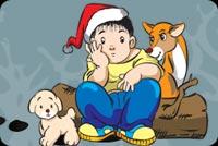 Đừng Buồn Cậu Bé Ơi. Noel Mà Mẫu Nền Thư