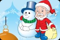 Ông Già Noel Và Người Tuyết Mẫu Nền Thư