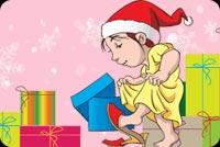Quà Giáng Sinh Của Bé Mẫu Nền Thư
