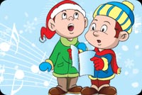 Hát Mừng Giáng Sinh Vui Vẻ Mẫu Nền Thư