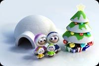 Gia Đình Đón Giáng Sinh Hạnh Phúc Mẫu Nền Thư