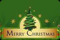 Bảng Hiệu Merry Christmas Mẫu Nền Thư
