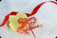 Merry Christmas, Trái Tim & Dây Thắt Nơ Mẫu Nền Thư
