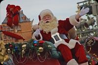 Ông Già Noel Vẫy Tay Chào Mẫu Nền Thư