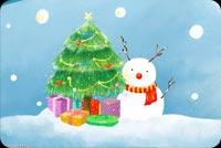 Thiệp Đẹp Chúc Giáng Sinh Mẫu Nền Thư