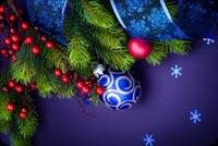 Giáng Sinh Chủ Đề Màu Tím Mẫu Nền Thư