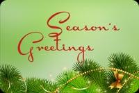 Khung Nền Giáng Sinh - Season's Greetings Mẫu Nền Thư
