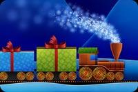 Xe Lửa Chở Quà Noel Mẫu Nền Thư