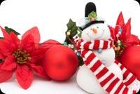 Người Tuyết Happy Holidays Mẫu Nền Thư