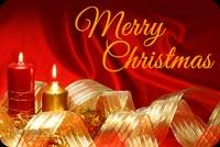 Nến Đỏ Chúc Giáng Sinh An Lành Mẫu Nền Thư