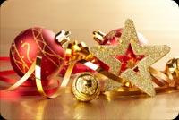 Trái Châu Và Ngôi Sao Noel Mẫu Nền Thư