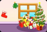 Giáng Sinh Trong Căn Nhà Nhỏ Mẫu Nền Thư