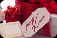 Quà & Thiệp Merry Xmas Mẫu Nền Thư