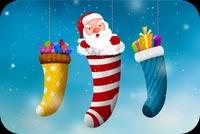 Santa Happy Holidays Mẫu Nền Thư