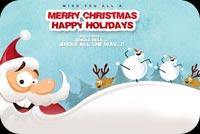 Merry Christmas & Happy Holidays Mẫu Nền Thư