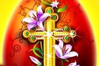 Thánh Giá Bằng Vàng Mẫu Nền Thư