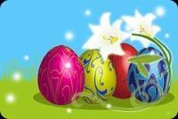 Trứng & Hoa Chúc Bạn Easter An Lành Mẫu Nền Thư