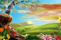 Mùa Xuân Và Ngày Lễ Phục Sinh Mẫu Nền Thư