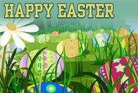 Đi Tìm Trứng Happy Easter Mẫu Nền Thư