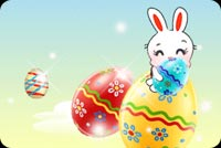 Thỏ Con Bên Trong Quả Trứng Mẫu Nền Thư