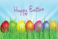 7 Trứng Đủ Màu Happy Easter Mẫu Nền Thư