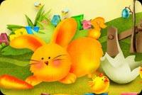 Tặng Bạn Thiệp Easter Mẫu Nền Thư