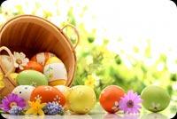Thiệp Easter Tặng Bạn Bè Mẫu Nền Thư