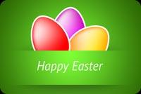 Thiệp Easter Tặng Người Thân Mẫu Nền Thư