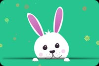 Thỏ Easter Dễ Thương Mẫu Nền Thư