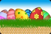 Rổ Trứng Easter Mẫu Nền Thư