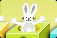 Bầy Thỏ Vui Đón Easter Mẫu Nền Thư