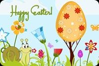 Ốc Sên, Hoa & Cây Trứng Easter Mẫu Nền Thư