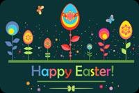 Thiệp Đẹp Happy Easter Mẫu Nền Thư