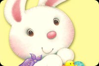 Thỏ Con Thật Dễ Thương Mẫu Nền Thư