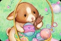 Bé Thỏ Easter Dễ Thương Mẫu Nền Thư