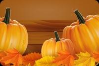 Pumpkins Và Lá Thu Mẫu Nền Thư