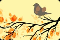 Chim Đậu Cành Cây Mẫu Nền Thư