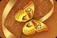 Bươm Bướm & Hoa Vàng Mẫu Nền Thư