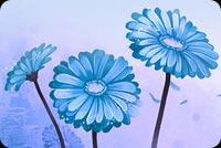 Hoa Xanh Blue Mẫu Nền Thư