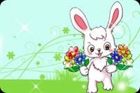 Thỏ Con Mong Bạn Sớm Bình Phục Mẫu Nền Thư