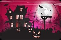 Lâu Đài Ma Halloween Mẫu Nền Thư
