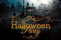 Nha Ma Halloween Party Mẫu Nền Thư